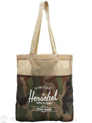 Herschel Packable Travel Tote Bag Camo  Khaki