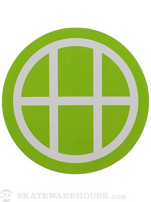 HUF Circle H Sticker Lime Green