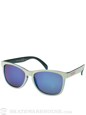 Happy Hour The Cove Shades  Matte White/Blue