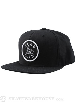 Hard Luck OG Snapback Hat Black