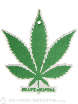 Skate Mental Weed Leaf Air Freshener