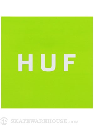 HUF Box Logo Sticker Lime Green