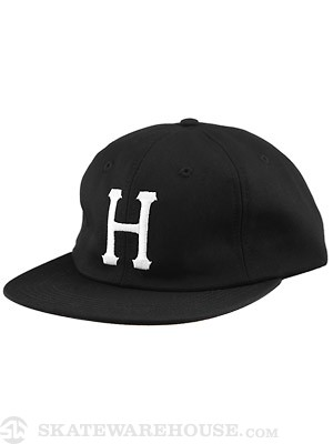 HUF Classic H 6 Panel Hat Black