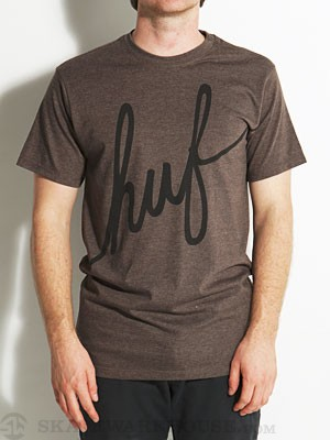 HUF Script T-Shirt Brown MD
