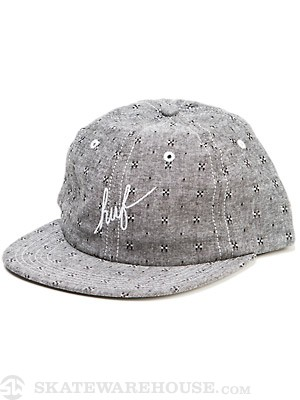 HUF Firefly Script 6 Panel Hat Black