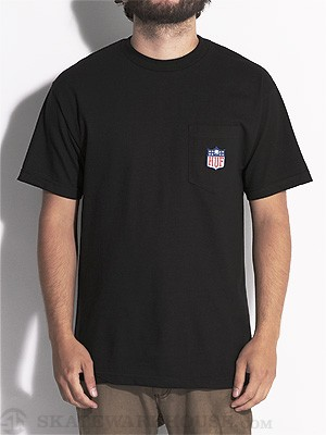 HUF Hail Mary Pocket Tee Black MD