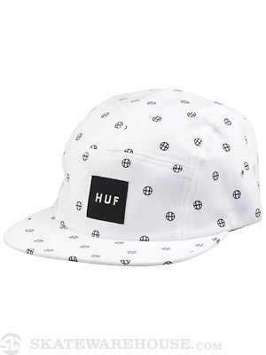 HUF Circle H Volley Hat White