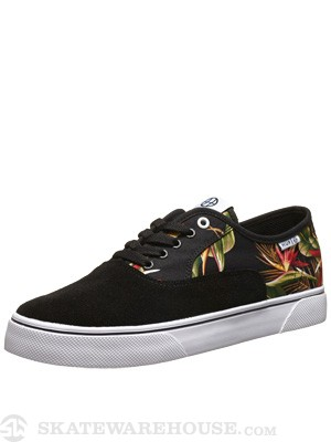 HUF Mateo Shoes  Black Floral