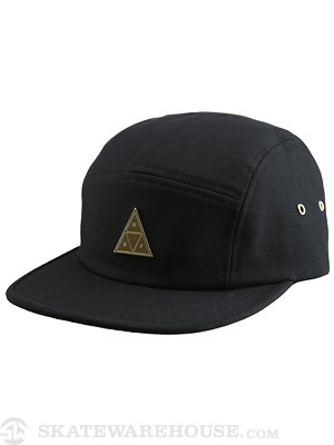 HUF Metal Triple Triangle Volley Hat Black
