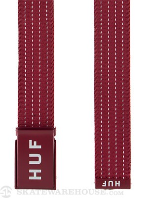 HUF Original Logo Scout Belt Burgundy