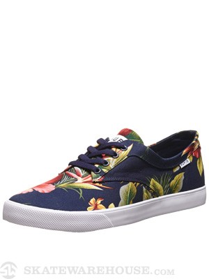 HUF Sutter Shoes  Navy Blossom