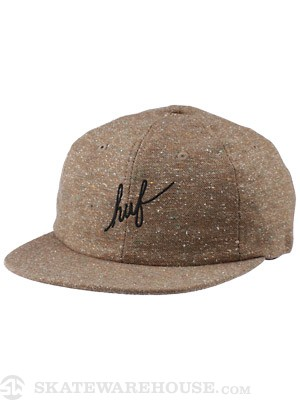 HUF Script Tweed 6 Panel Hat Taupe