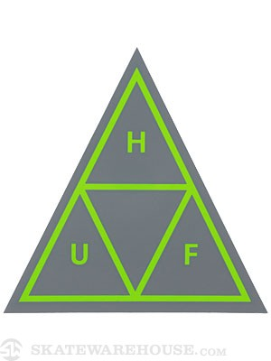 HUF Triple Triangle Sticker Cool Grey