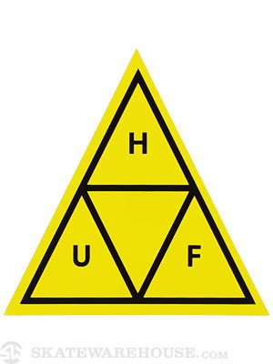 HUF Triple Triangle Sticker Yellow