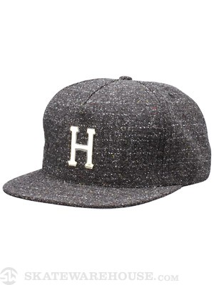 HUF Tweed Metal H Snapback Black