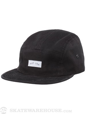 HUF USA Corduroy Volley Hat Black