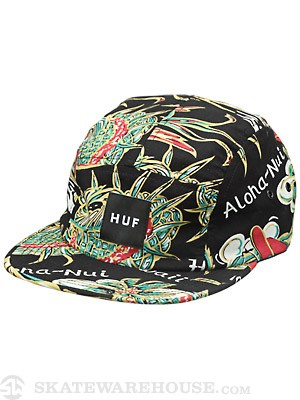 HUF Souvenir Volley Hat Black