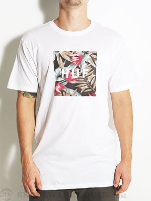 HUF Box Logo Fill Waikiki Tee White MD