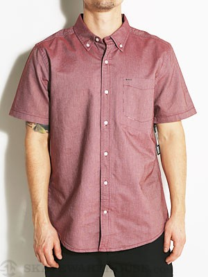 Hurley Ace Oxford S/S Woven Shirt Mahogany MD