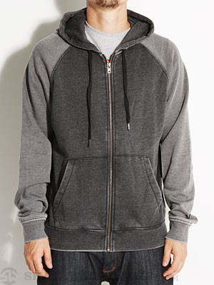 Hurley Burnout Hoodzip Black MD