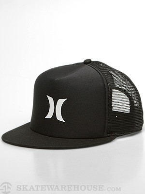 Hurley Color Block Trucker Hat Black Adj.