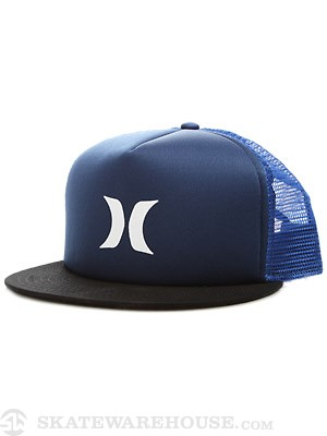 Hurley Color Block Trucker Hat Blue Nile Adj.