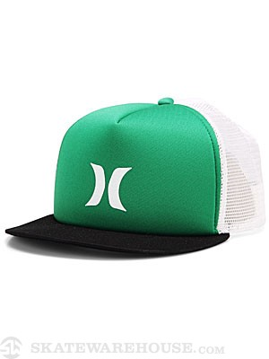 Hurley Color Block Trucker Hat Island Green Adj