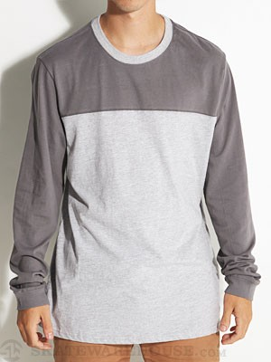 Hurley Staple L/S Football Shirt Heather Grey SM