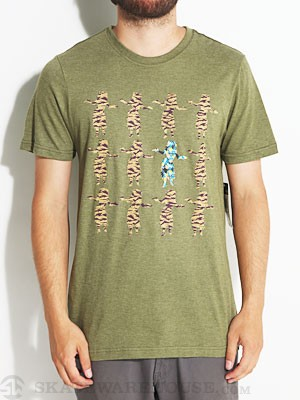 Hurley Flammo Hula Premium Tee Heather Moss MD