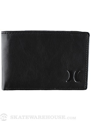 Hurley Icon Leather Wallet Black