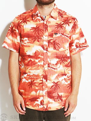 Hurley Island S/S Woven Shirt Orange LG