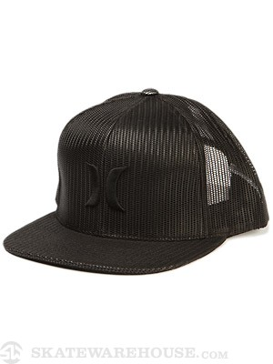 Hurley Mesher Snapback Hat Black Adjust