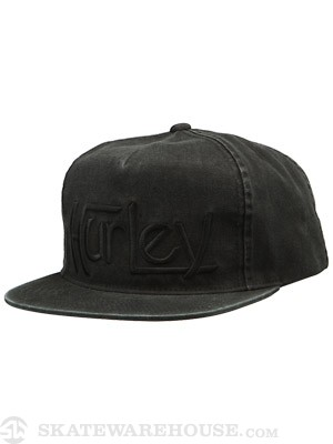 Hurley Original Washed Snapback Hat Black Adj.