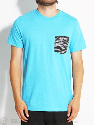 Hurley Pocket Flammo Shirt Cyan/HCYA LG