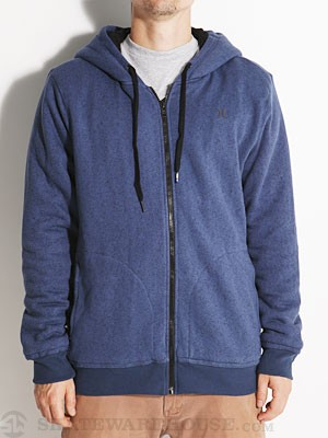 Hurley Retreat Sherpa Hoodzip Heather Blue MD