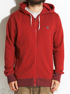 Hurley Retreat Hoodzip Red MD