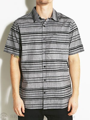 Hurley Stately S/S Woven Shirt Anthracite MD