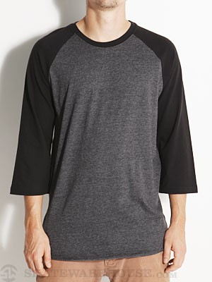 Hurley Staple Raglan Shirt Hthr Black/Black SM