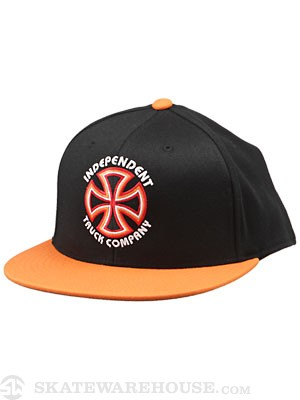 Independent Bauhaus Flexfit Hat Blk/Orange SM/MD