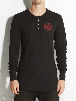 Independent BTG Ring Thermal Henley Black LG