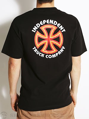 Independent Bauhaus Cross Tee Black SM