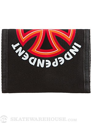 Independent Bauhaus Tri-Fold Velcro Wallet Black