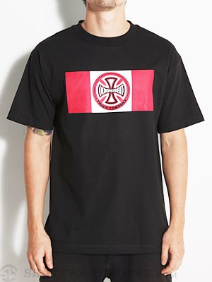 Independent Block Tee Black SM