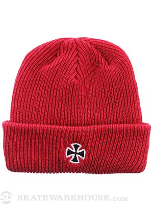 Independent Cross Long Shoreman Beanie Red