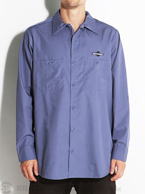 Independent Daily Grind L/S Work Shirt Blue SM