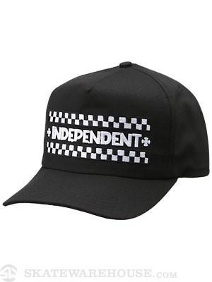 Indy Finish Line Hat Black Adjust