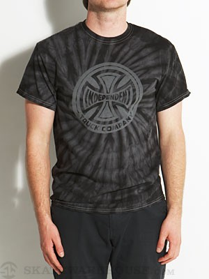 Independent Fountain T/C Tie Dye Tee Black SM