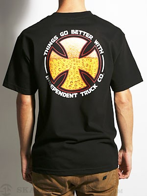 Independent Things Go Better Tee Black SM