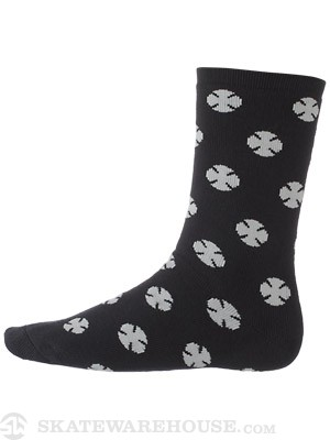 Independent Multi Cross Crew Socks Black