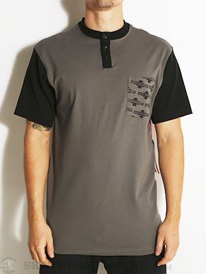 Indy OG Pattern Henley Dark Grey SM